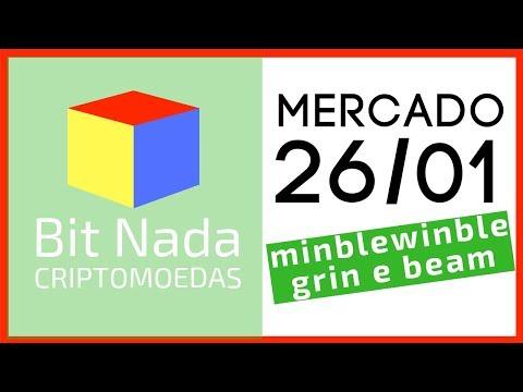 Mercado de Cripto! 26/01 MIMBLEWIMBLE, GRIN e BEAM / Pataquada em Davos.