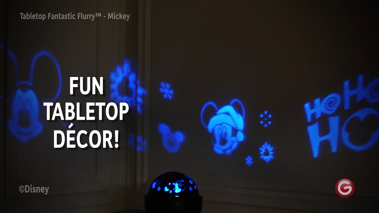 Mickey Mouse Fantastic Flurry Led Projection Rotating Tabletop Light