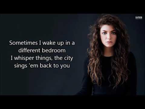 Lorde -  Green light (lyrics)