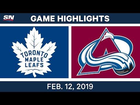 NHL Highlights | Maple Leafs vs. Avalanche - Feb 12, 2019