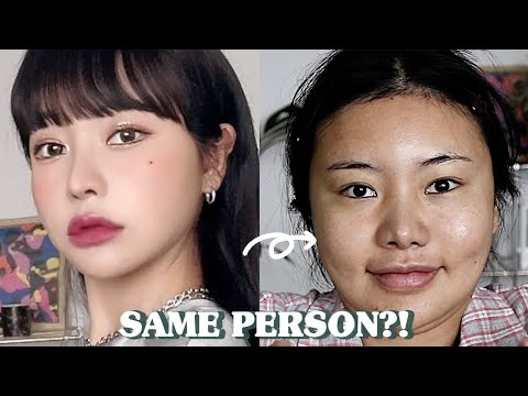 (With subs) 같은 사람 맞아요? 메이크업. :: OUTFIT CHANGE MAKEUP✨