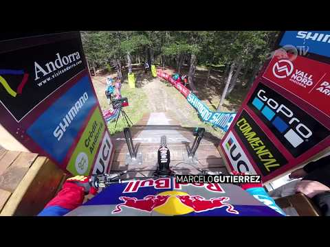 Marcelo Gutierrez's Run at Vallnord DH World Cup in Andorra!