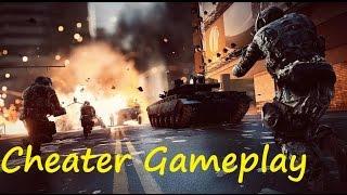 Battlefield 4 Cheater Gameplay, Aimbot, Jumpboost, Wallhack