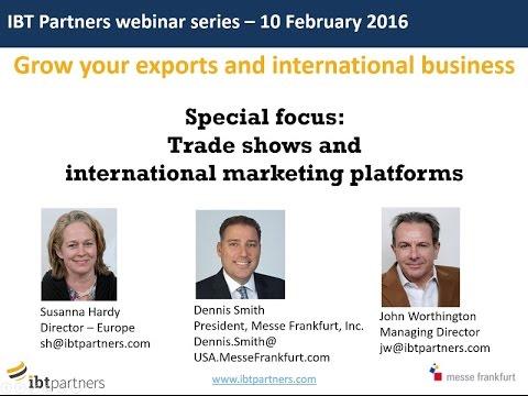 Webinar: Trade shows, international marketing platforms