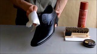 ASMR Shoe shine and wax. (no talking) re-make