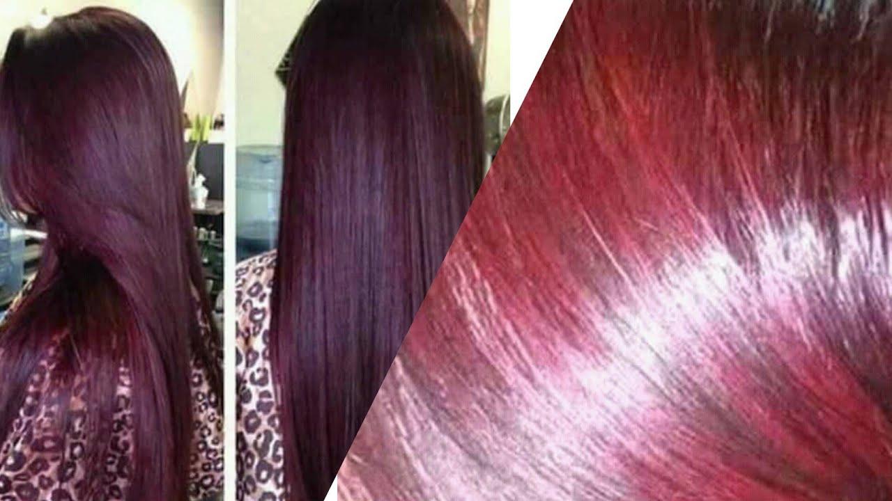 صبغت شعري بلون رائع وثابت جدا اللون الاحمر العنابي بدون مواد كيميائية نتيجته مذهلةورائع للشعر الابيض Youtube