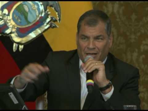 Presidente Rafael Correa habla acerca de los errores en el procedimiento del conteo de votos