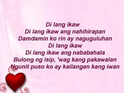 di lang ikaw with lyrics ( juris )