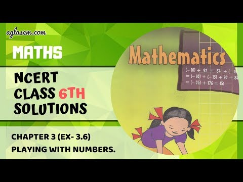 NCERT Solutions Class 6 Mathematics Chapter 3 Playing with