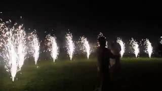 Фейерверки - Фонтаны на Свадьбу - 12 штук (3м x 60 сек)