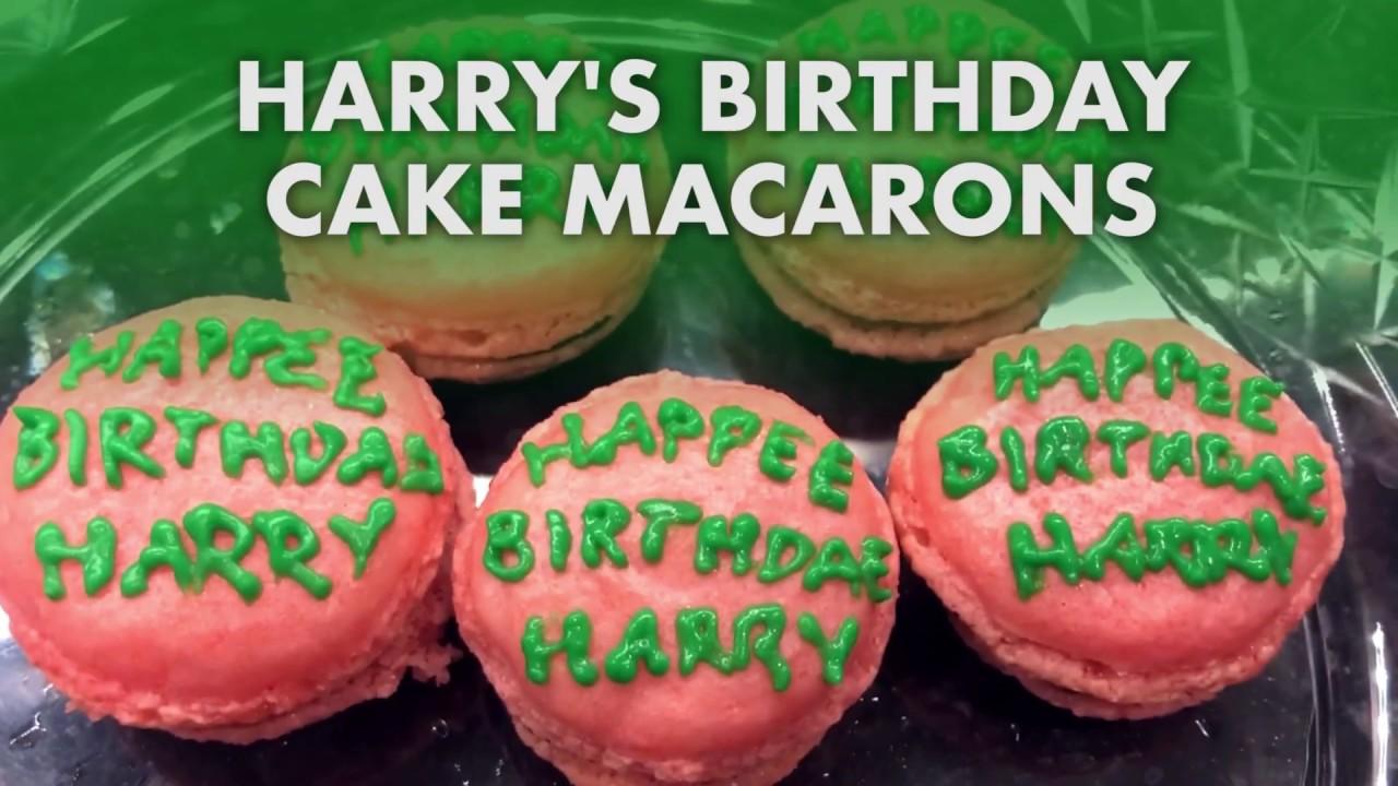 Harrys Birthday Cake Macarons