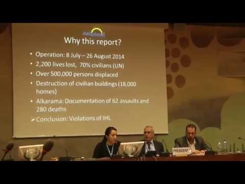 Launch of Alkarama's Public Report on 2014 Operation Protective Edge