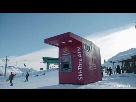 CIBC Introduces the world's first ski-thru ATM.