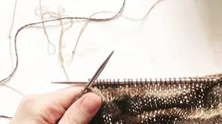 Удобное натягиваний нити при вязании спицами