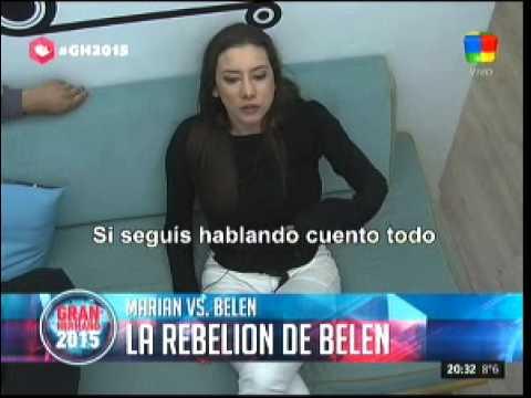 #GH2015: Así arrancaba la terrible pelea entre Marian y Belén