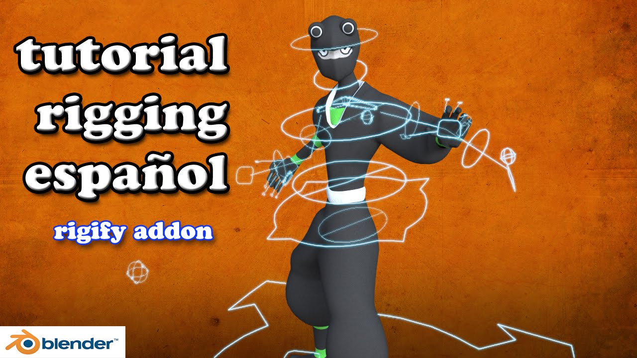 tutorial blender rigging con rigify español