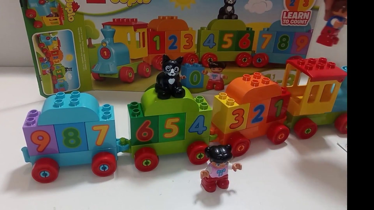 Learn numbers and alphabet. train. videos for toddlers. Lego Duplo My First Number Train 10847 - YouTube