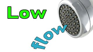 Low water pressure in shower head FIX how to increase water flow rate