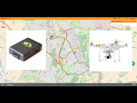 GPS TK-102  Live Real time Tracking GRPS Setup DJI Phantom Drone