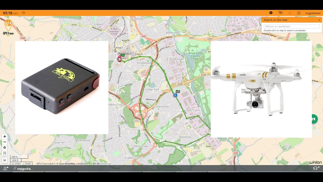 GPS TK-102 Live Real time Tracking 2G GRPS Setup DJI Phantom Drone
