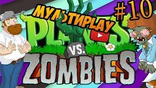 Растения против зомби #10 Зомби пауки. Игра как мультик для детей про зомби