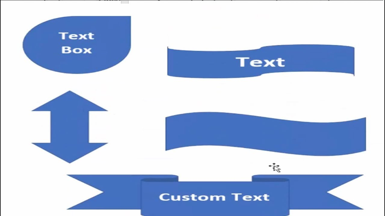 how to make a text box custom shape in word