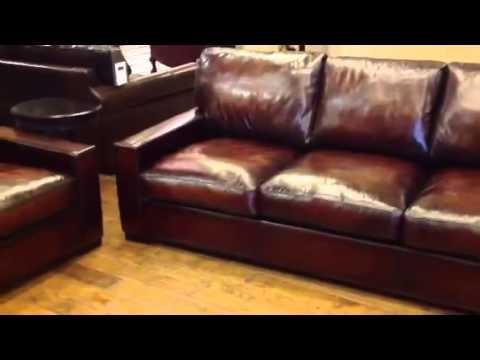 Baja Leather Cameron Extra Deep Leather Sofa   YouTube
