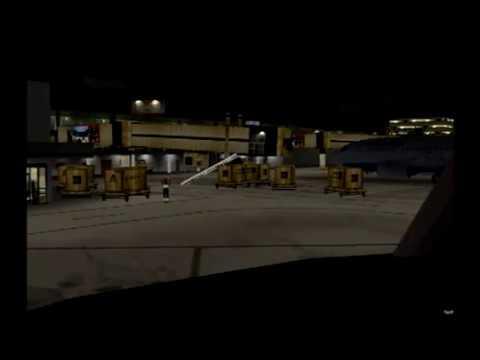 FS2004|Aerolineas Sosa|CRJ200|Night Landing in Tegucigalpa