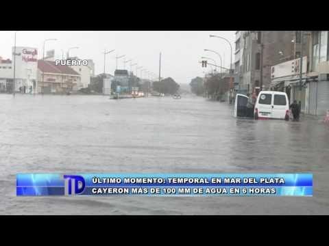 Telediario | Temporal en Mar del Plata: Cayeron más de 100mm de lluvia