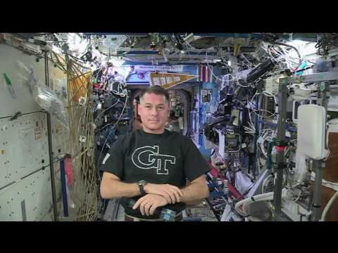 Space Station Commander Talks About his Mission with his Alma Mater