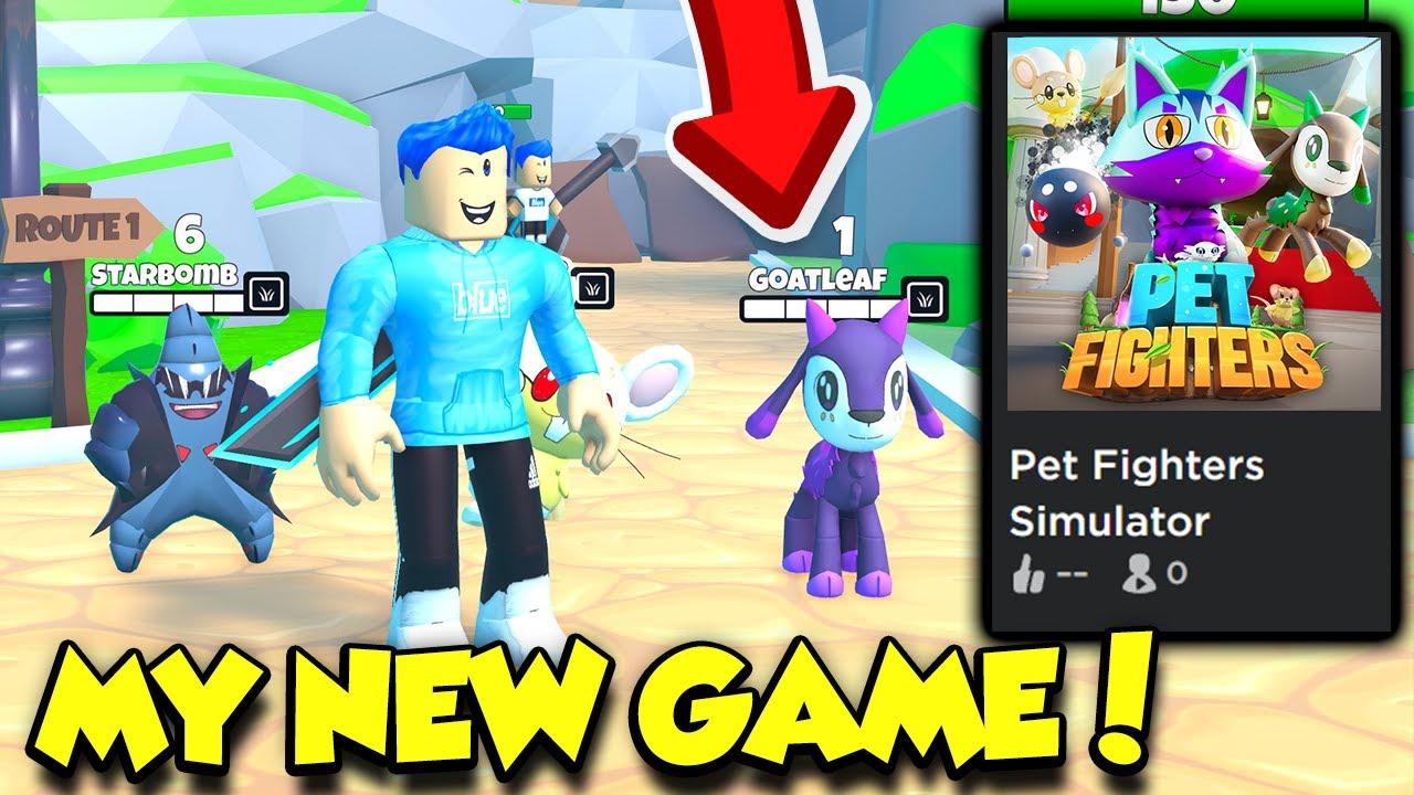 EXCLUSIVE Sneak Peek Of MY NEW ROBLOX GAME Pet Fighters Simulator!! (Roblox)