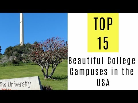 Top 15. Most Beautiful College Campuses in the USA