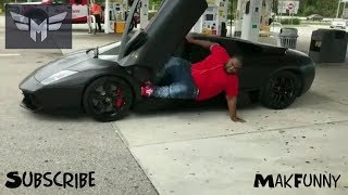 KHULUBUSE ZUMA FALLING WHILE ATTEMPTING TO GET OUT OF HIS CAR !!!
