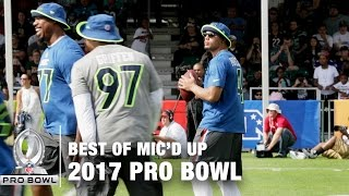 Best of Mic'd Up at the 2017 Pro Bowl Practice | NFL