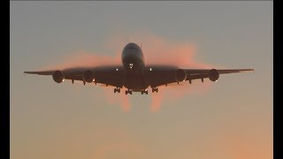 Airbus A380 Sunrise arrival Emirates airline