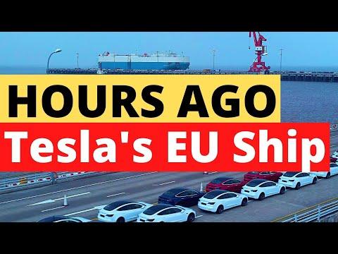 HOURS AGO: Watch Tesla Model 3s Leaving Shanghai Port in a Huge Ship