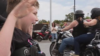 100 Bikers Came To Birthday Party For Motorcycle-Loving Boy With Cerebral Palsy