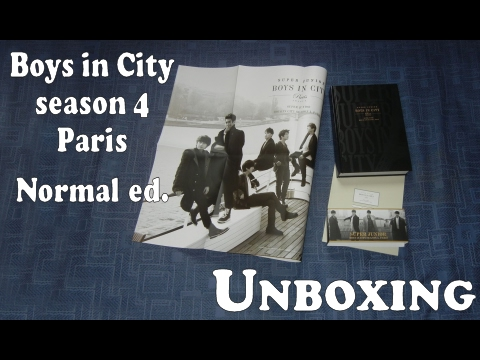 Unboxing - Super Junior Boys in City 4 Paris - Normal version - photobook + poster + postcard book