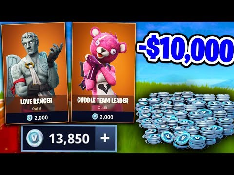 SPENDING MY *ENTIRE BANK* ON FORTNITE BATTLE ROYALE.... (NEW SKINS UPDATE!)