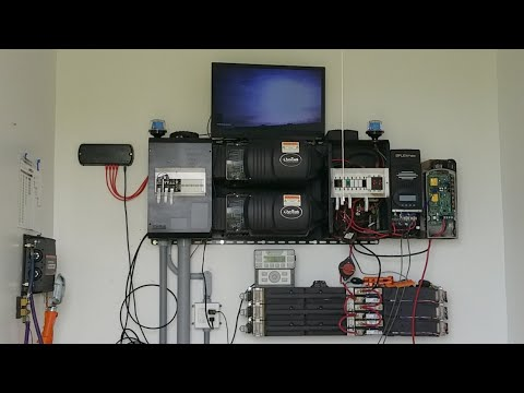 Live: Tesla Batteries Off Grid Solar System