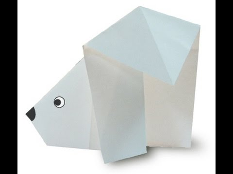 How to make an Origami Polar Bear Face by Made by Man - YouTube | 360x480