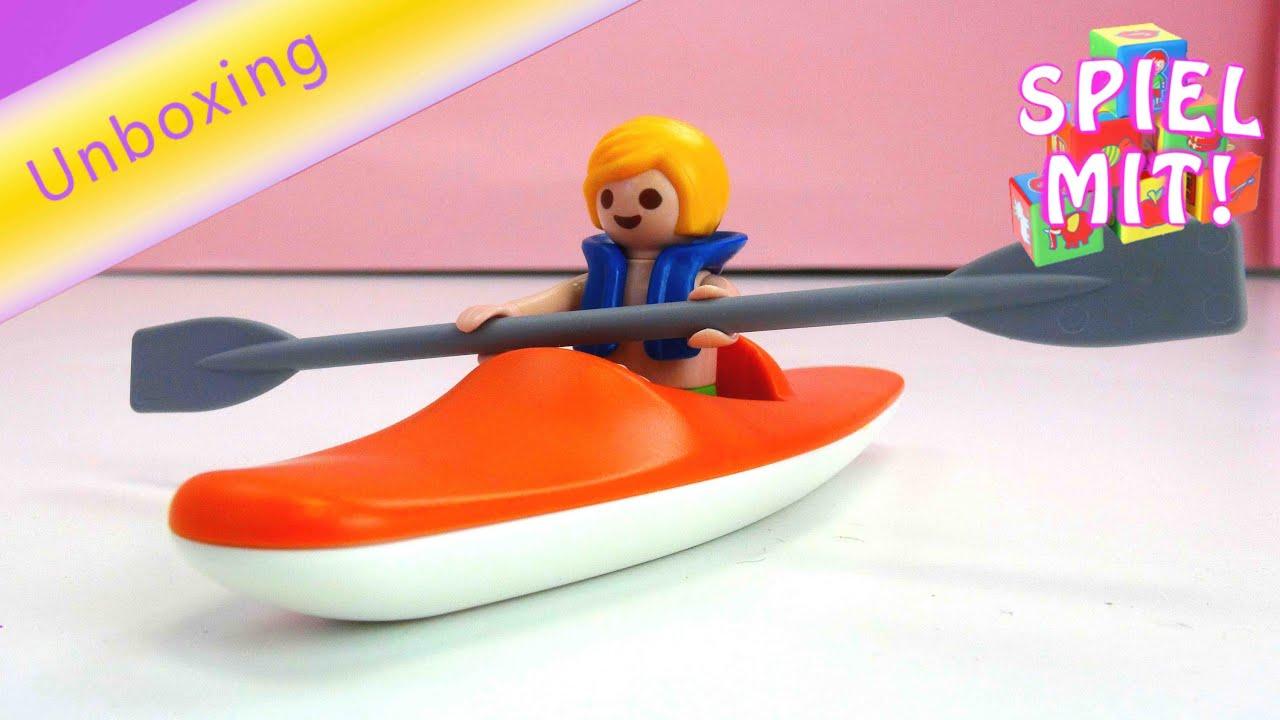playmobil summerfun kajak f r kinder wasserspielzeug von playmobil youtube. Black Bedroom Furniture Sets. Home Design Ideas