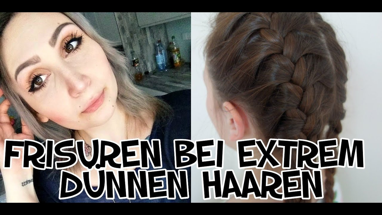 TEST FRISUREN BEI EXTREM DÜNNEN HAAREN Frisuren Getestet YouTube
