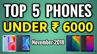 Top 5 Phones Under 6000 | 5 Best 4G Budget Smartphones