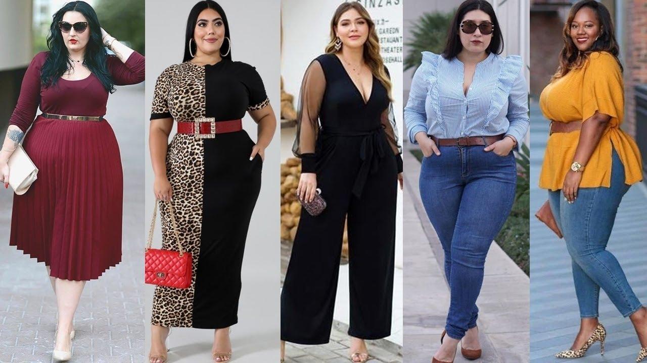 Outfits Con Ropa De Moda Y Tendencia Para Mujeres Hermosas Talla Grande 2020 Youtube