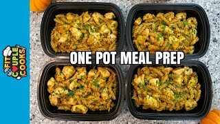 How to Meal Prep - Ep. 61 - ONE POT CHICKEN PUMPKIN PASTA ($2.50/Meal)