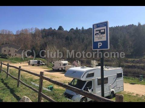 Club Motorhome Aire Videos - Viladrau, Catalonia, Spain