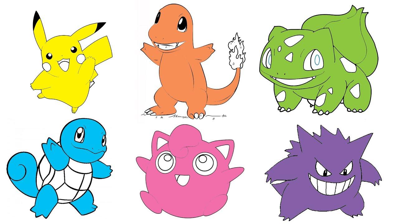 Learn Colors With Pokemon Pikachu Charmander Bulbasaur