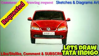 Lets Draw Tata Indigo Car || Car Drawings || Sketches & Diagrams Art ||