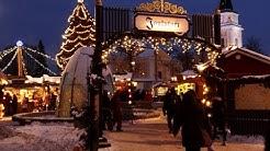 Christmas Market of Tampere Finland with Santa Claus Tampereen joulutori joulumarkkinat Suomi joulu